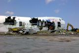 2013 - Air Plus Comet B747-212B J2-KCV  being scrapped at Opa-locka Executive Airport
