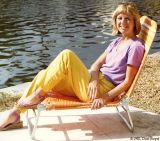 1981 - Marypat Spannbauer catching some rays out back