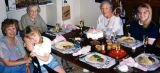 1997 - Karen, Donna, Aunt Beatrice, Aunt Norma and Karen Dawn at birthday dinner
