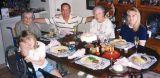 1997 - Donna, Aunt Beatrice, Don, Aunt Norma, Karen at birthday dinner