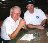 2006 - Aviation Author John Morton and LAX bum Mike Carter at Bennigans