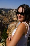Allison, looking towards Lower Yellowstone Falls