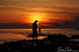 Photographer at sunrise