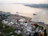 From our hotel room, top floor: Lower Town (Basse-Ville) section of Old Québec & the St. Lawrence River (Fleuve Saint-Laurent)