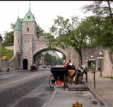 Gate to Old Québec City on Rue St.-Louis in the Upper Town section. Québec City is the only walled city in North America.