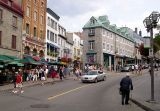 The intersection of  Côte de la Fabrique, Garneau, Couillard and St. Jean streets in the Upper Town of Old Québec.