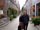 Judy and Richard on Rue du Petit-Champlain in the Lower Town section of Old Québec.