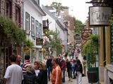 Rue du Petit-Champlain in the Lower Town section of Old Québec. Rue du Petit-Champlain is the city's oldest street.
