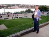 Judy - overlooking  the Terrasse Dufferin (boardwalk). The St. Lawrence River is in the background.