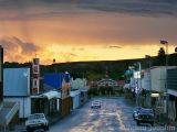 Stormy dusk in main street