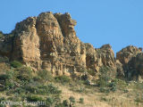 Rocky sandstone outcrop