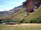 Cemetry under the cliffs