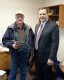 Senator Braun (right) with Bernie Stratton