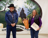 Pam Swigert accepting Alyssa Thomson's Jr. BCHW Award