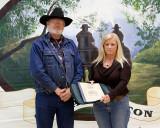 Kathy Conner receiving a Desk Jockey Award
