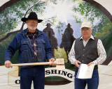Jerry Throop receiving a Trail Warrior Award
