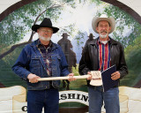 Pete Stoothoff receiving a Trail Warrior Award