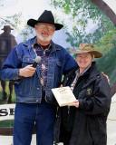 Vicki Clark receiving Cinch Award