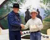Dick Yarboro receiving Cinch Award for Jeff LaBreck