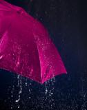 La pluie en rose!