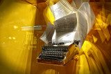 Typewriter Taking Flight