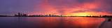 Perth Swan River Sunrise, 27th April 2012