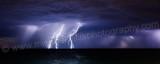Lightning Strike Over The Ocean