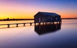 Crawley Boatshed at Sunrise