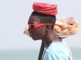 Cake vendor at Kololi Beach