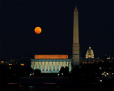 Moonrise Over DC, March 2013