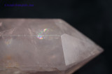Rose Quartz Crystal DT Double Terminated Wand Polished Point - The Love Stone