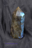 Healing Free-Standing Point Labradorite Wand - Deep Flashes of Blue & Green