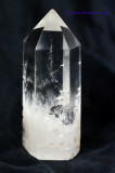 Clear Quartz Rock Crystal Polished Point Wand Obelisk with Metal Inclusion
