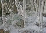 51 icicles over bubbling water