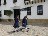 Schoolgirls in Villa de Leyva