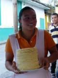 Arepa lady in Salento