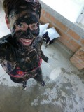 Mud treatment at Termales de San Vicente