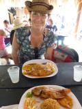 Food at Playa Blanca