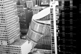 Atrium Mall, Chicago view from Kemper Building, Chicago, IL - Open House Chicago 2012, Black and White