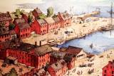 Annapolis, Maryland and Chesepeake Bay painting, Maryland State House, Annapolis, Maryland