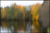 Watercolors at River Lagan near Ljungby