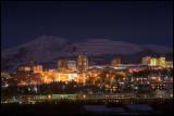 Kiruna City at dusk - Lapland Sweden