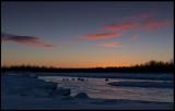 Kaalasluspa and Kalix River at dawn - Lapland
