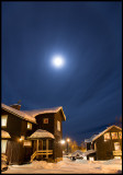 Moon halo a cold evening in Kiruna - Lapland