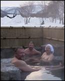 Kari Wallgren, myself & Jari Peltomäki in the daily bath....