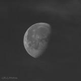 Cloudy Morning Moon (Week 5)