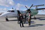 Entring the plane