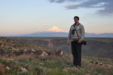 Me with Mount Ararat in background