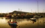 Ramsey shipyard at dusk