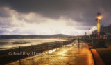 Douglas promenade on a damp, misty evening